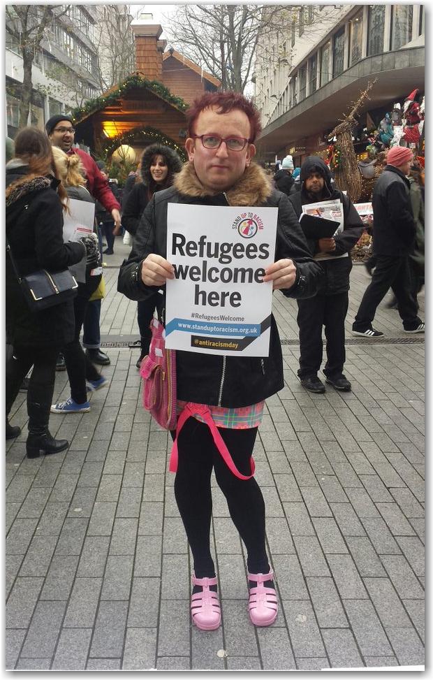 Risultati immagini per welcome refugees
